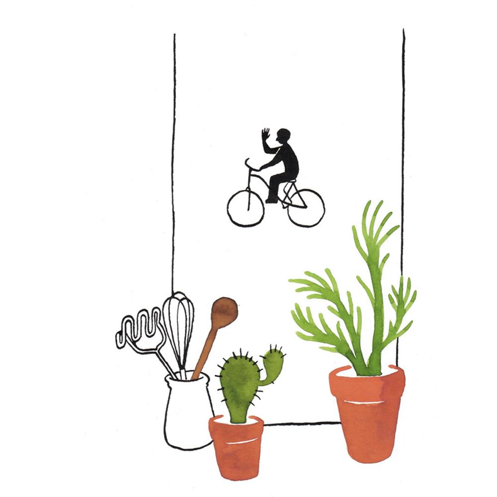 tot straks | tekening door Cynthia Borst