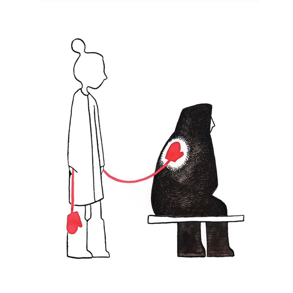 wantjes troost | tekening door Cynthia Borst