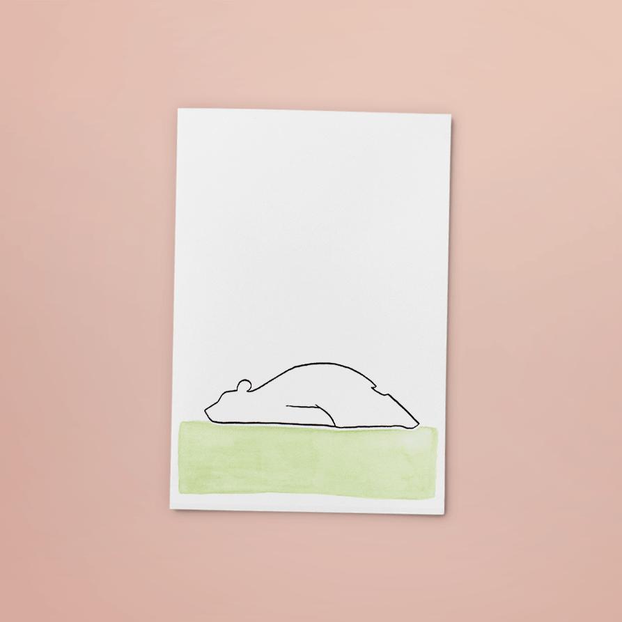 kaart beer | tekening door Cynthia Borst