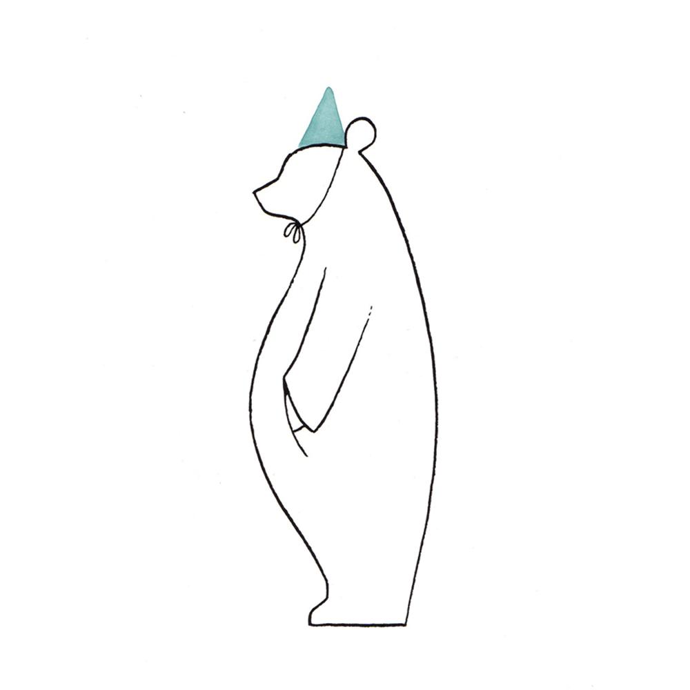 feestbeer | tekening door Cynthia Borst