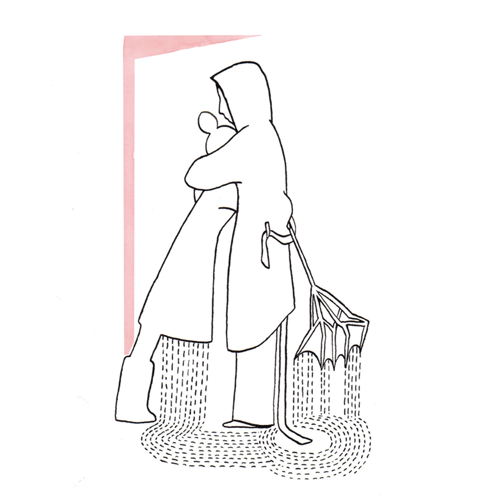warme arm | tekening door Cynthia Borst