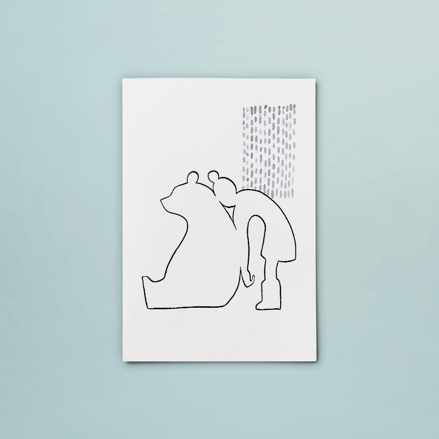 kaart vrienden | tekening door Cynthia Borst