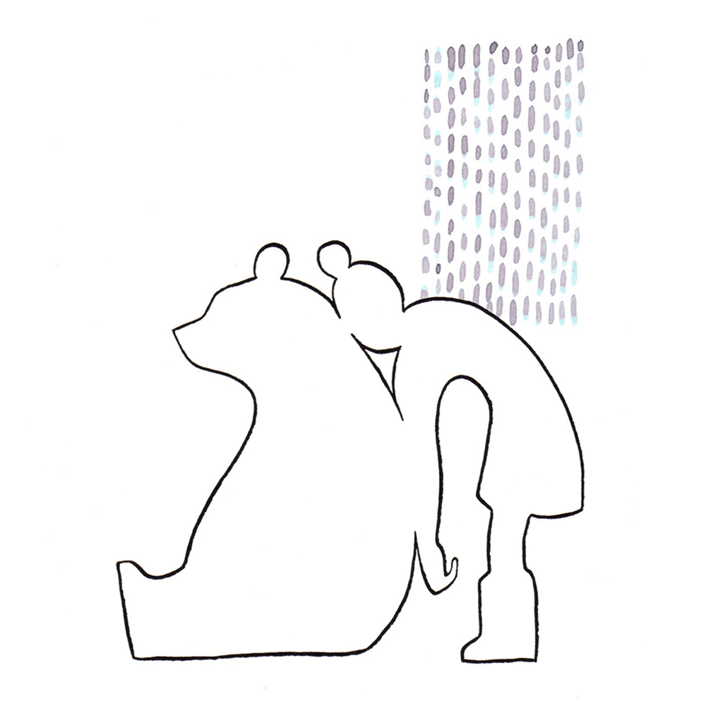 vrienden | tekening door Cynthia Borst