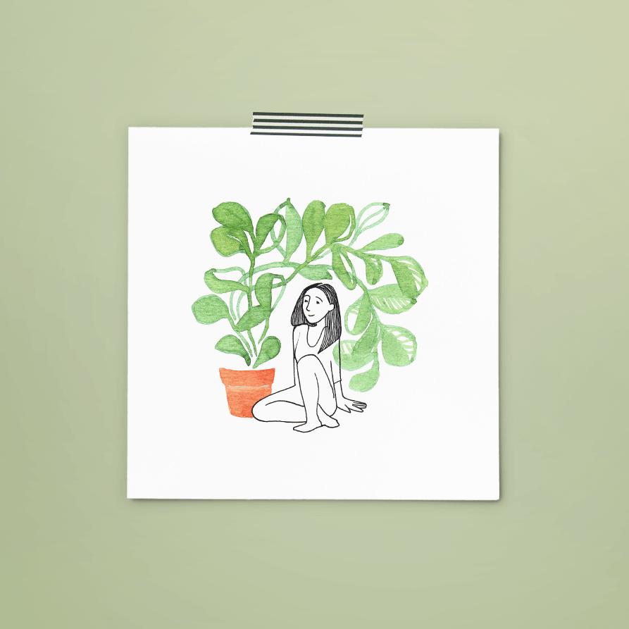 print 156 van 365+1 | tekening door Cynthia Borst