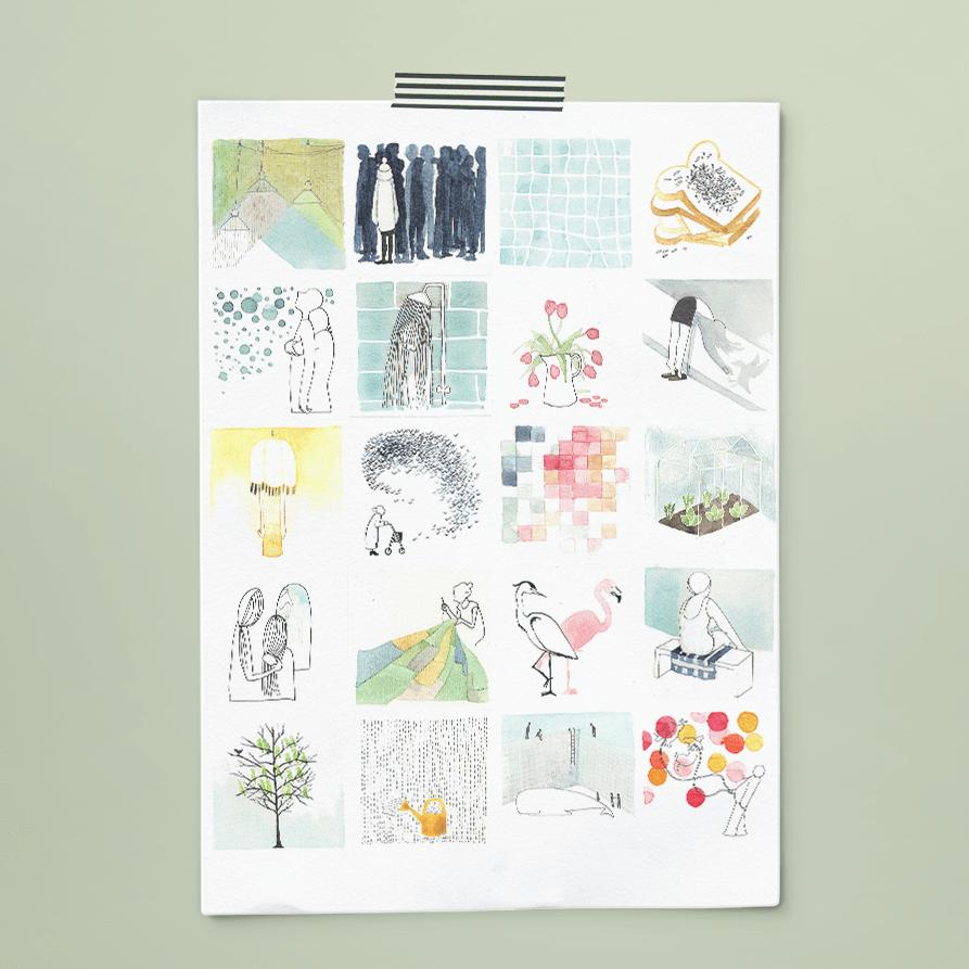 poster 365+1 | tekeningen door Cynthia Borst