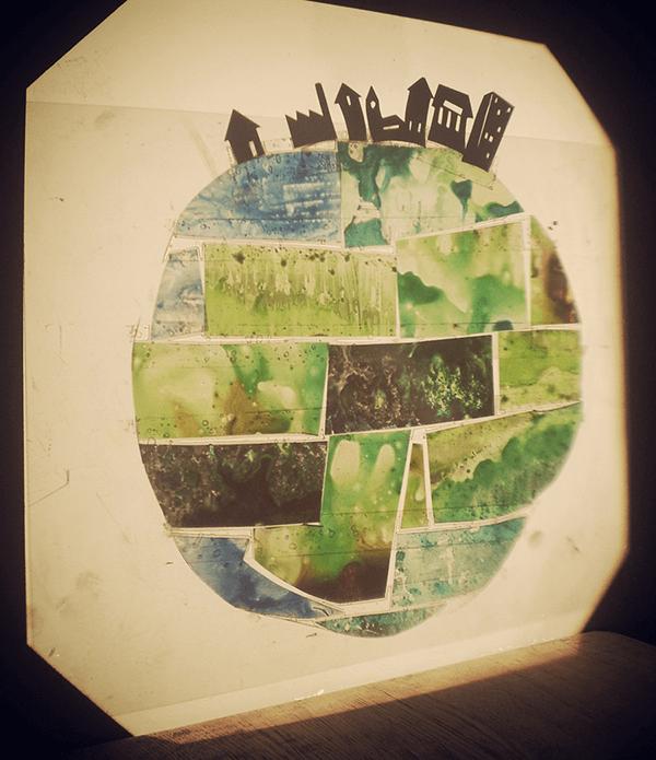 diaprojectie van de wereld | tekening door Cynthia Borst
