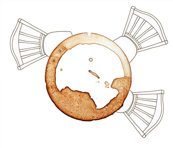 koffietafel | tekening door Cynthia Borst