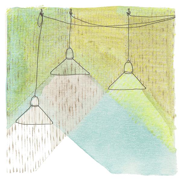 lampen licht | tekening door Cynthia Borst