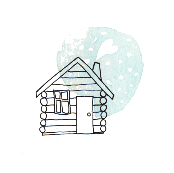 winter home | tekening door Cynthia Borst
