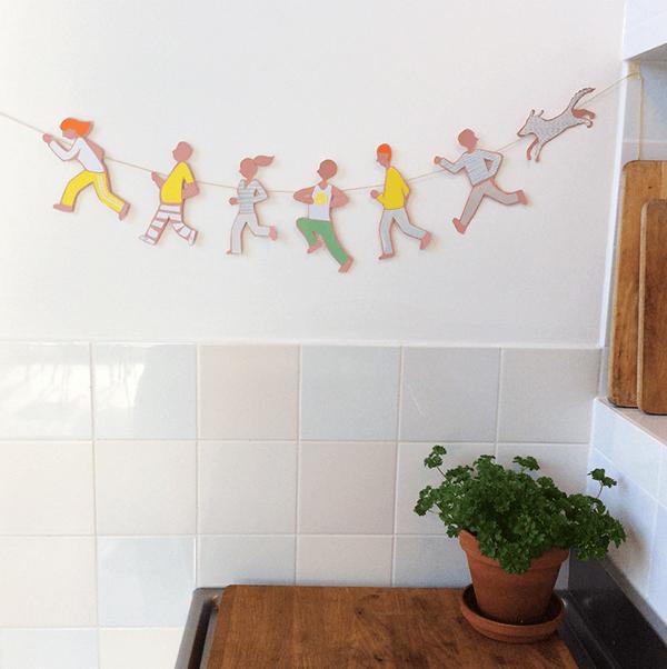 motivational spring garland   collage door Cynthia Borst