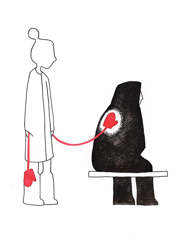 troost met wantjes | tekening door Cynthia Borst