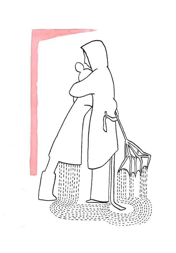 warme arm plus mens   tekening door Cynthia Borst