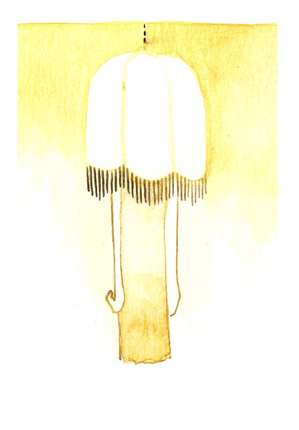 verlegenheid | tekening door Cynthia Borst